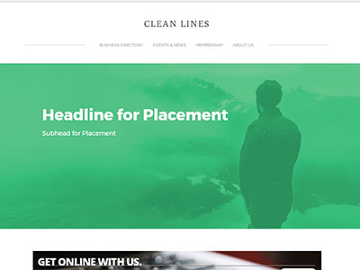 WebLink Website Clean Lines Theme